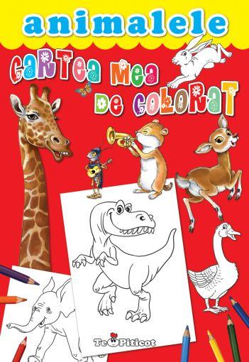 Cartea Mea De Colorat Animalele